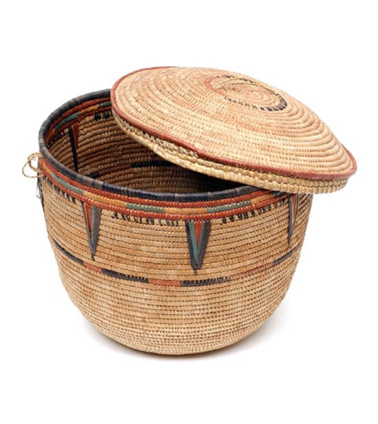 prior pinner: Africa | Lidded basket from the Hausa people of the Jos region of Nigeria | 20th century