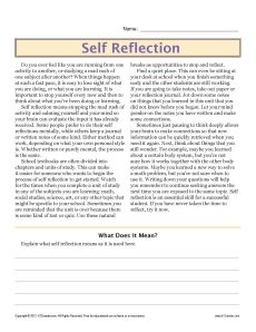 Sixth grade reading comprehension worksheet school ideas gr6selfreflection paulas note this site also has many other good worksheets for skills ibookread ePUb