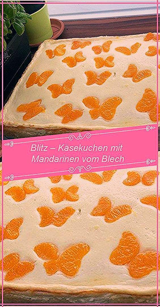 Blitz Käsekuchen mit Mandarinen aus der Dose RecipesBlog.net - Sandy