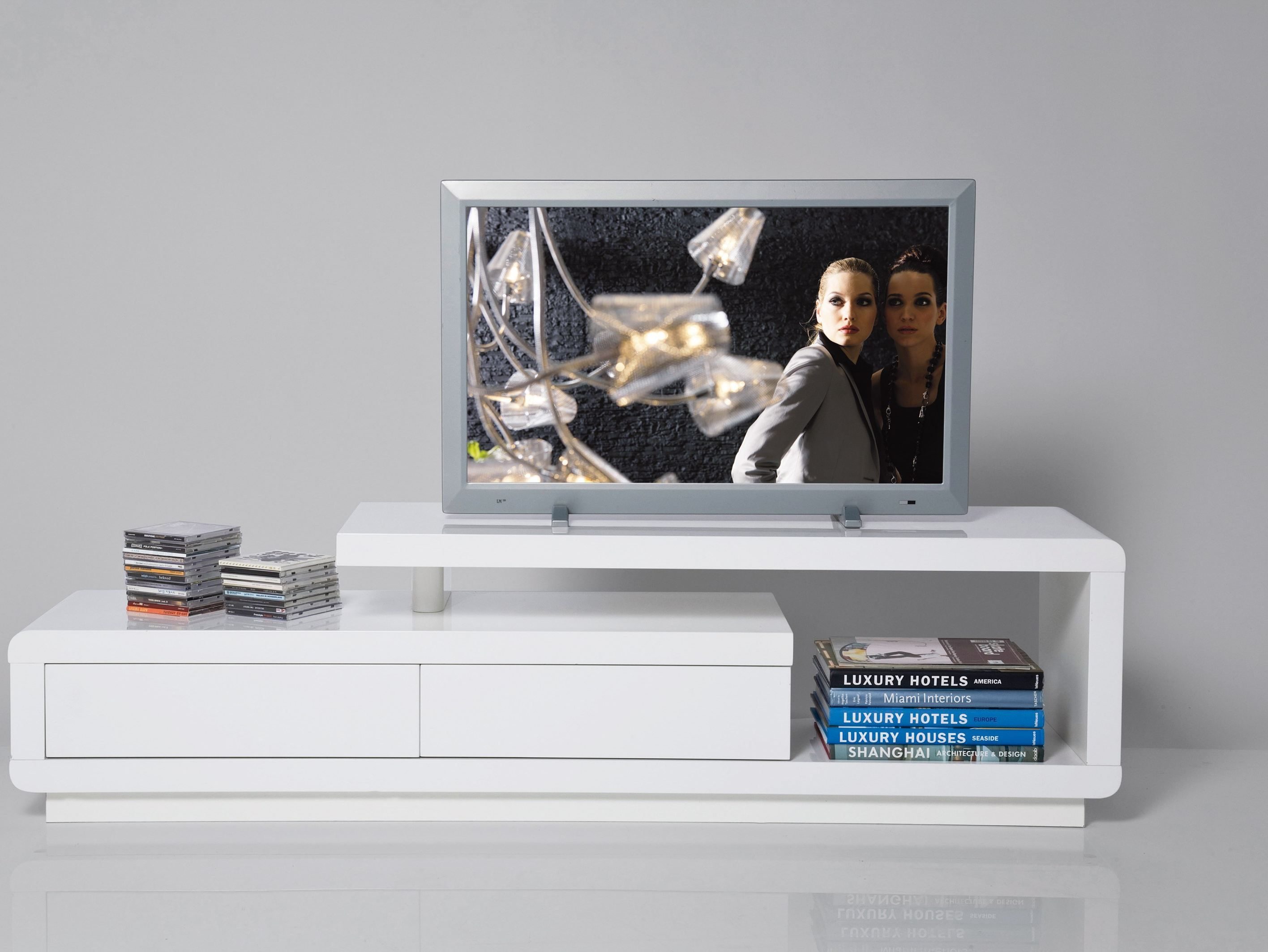 DESIGN LOW MDF TV CABINET WHITE CLUB BY KAREDESIGNLounge Room