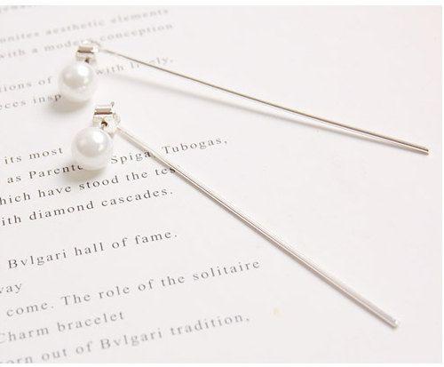 Simple Modern Pearl & Back Catch Stick 2 Way by CharisJewel