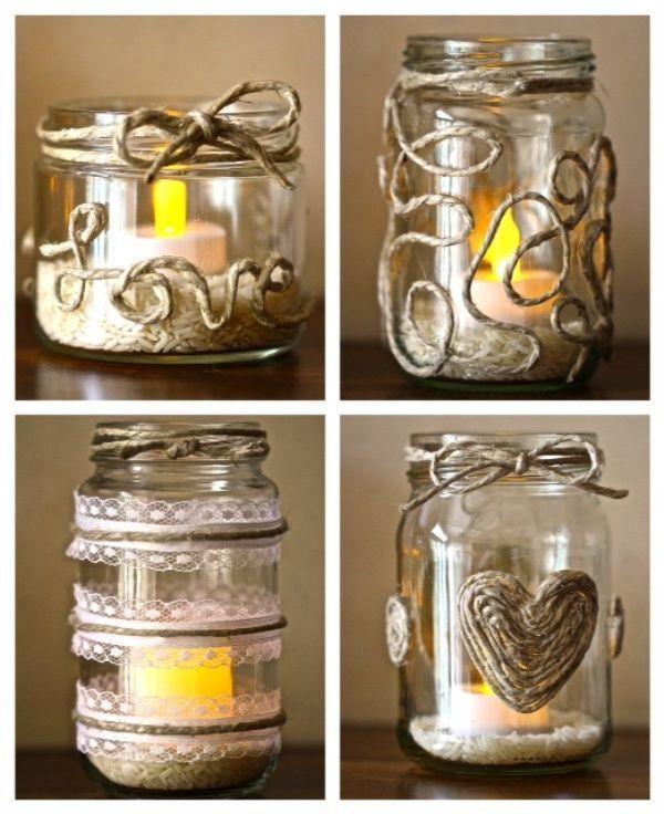 22 ideas creativas para decorar frascos de vidrio Jar - ideas creativas y manualidades