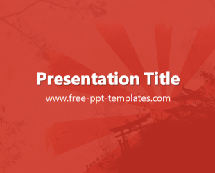 Japan PowerPoint Template is a red template with appropriate ...