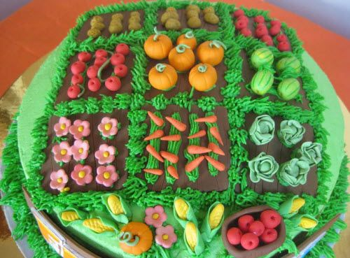 A Garden Cake How Cute Garden Cakes Allotment Cake Novelty Cakes