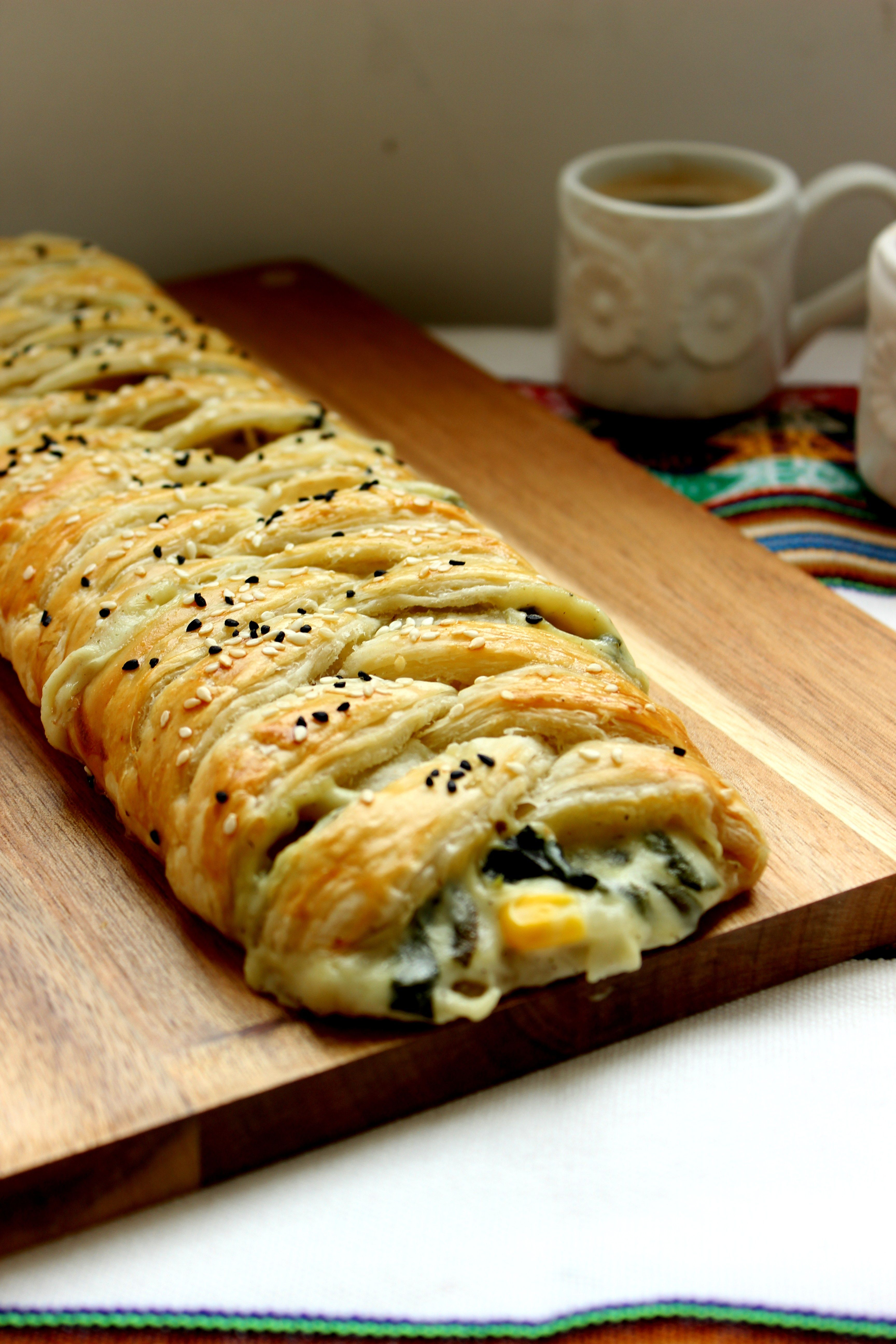 Spinach & Artichoke Puff Pastry Braid - Flour & Spice