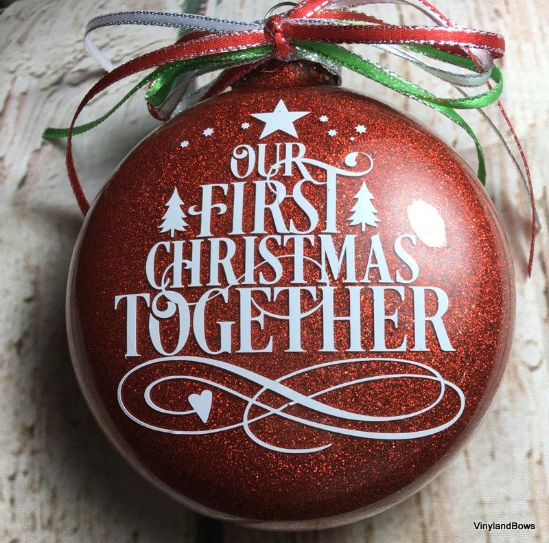 Our First Christmas Together Glittered Glass Ornament Etsy First Christmas Christmas Glass Ornaments