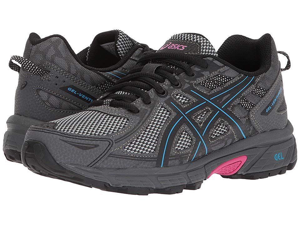 5e45d3ba ASICS GEL-Venture(r) 6 Women's Running Shoes Black/Island Blue/Pink ...