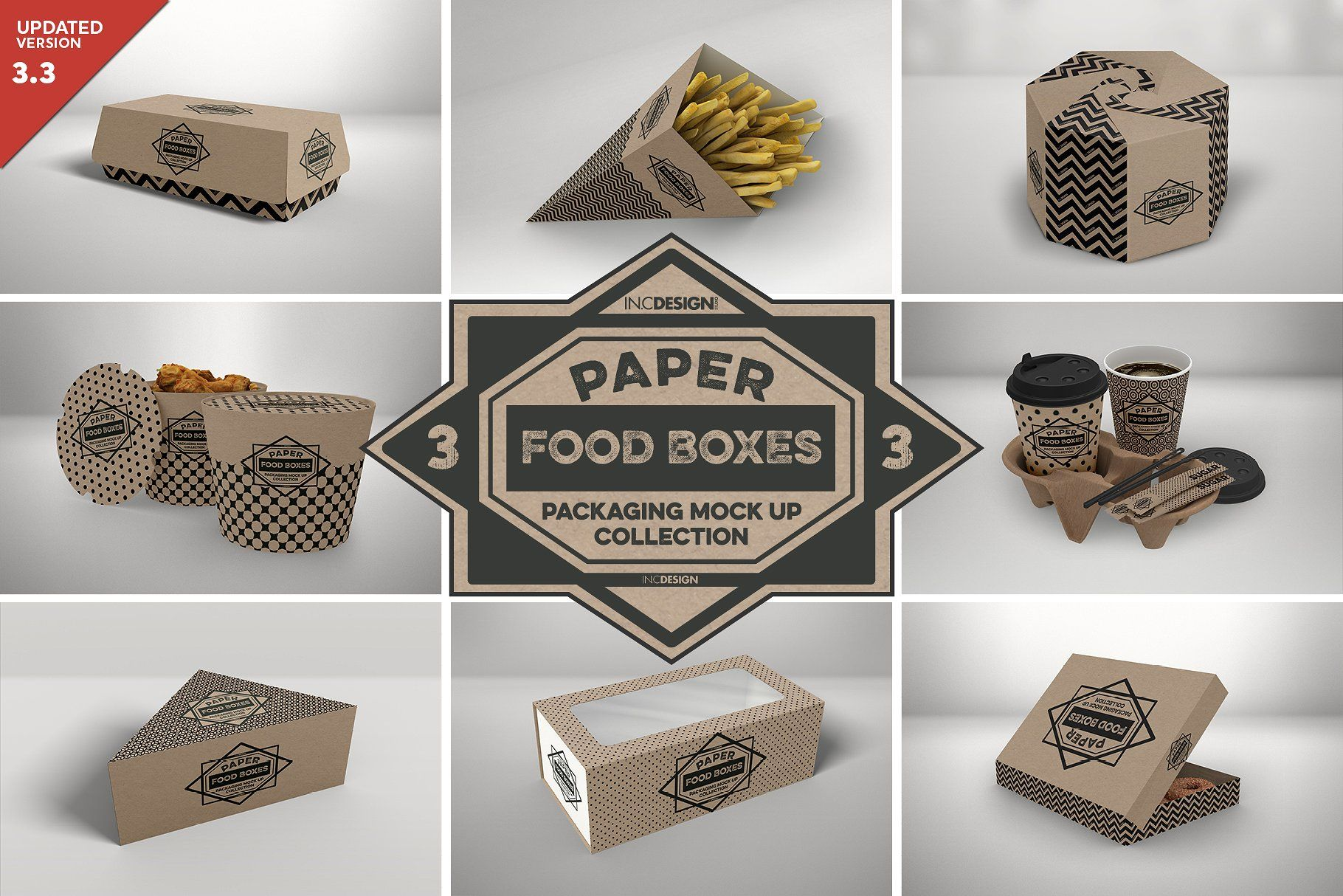 Download Vol 3 Food Box Packaging Mockups Mockup Free Psd Packaging Mockup Free Psd Mockups Templates PSD Mockup Templates