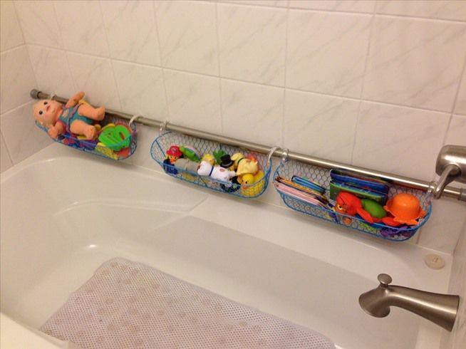 How To Use Extra Shower Curtain Rods To Increase Bathroom Storage