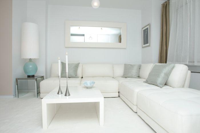 Weiße Wohnzimmermöbel \u2013 Ein stilvolles Wohnzimmer gestalten White
