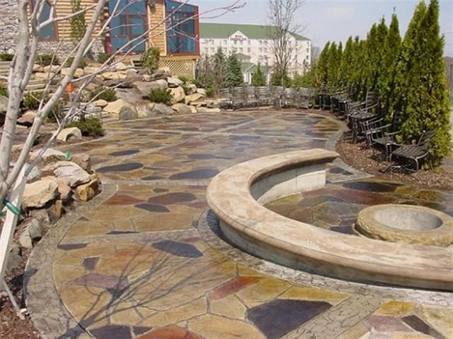 arizona flagstone stamped concrete pinterest flagstone