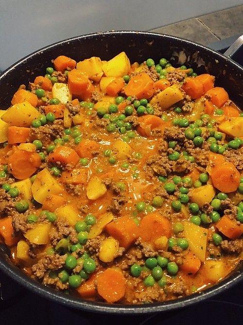 Omas Hackfleischpfanne mit Gemüse von verenafieb   Chefkoch