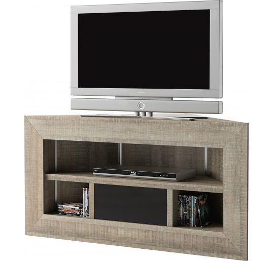 Meuble Tv D Angle Chene Gris Brooklyn Meuble Tv Destock Meubles Ventes Pas Cher Com Meuble Tv Angle Meuble Tv Mobilier De Salon