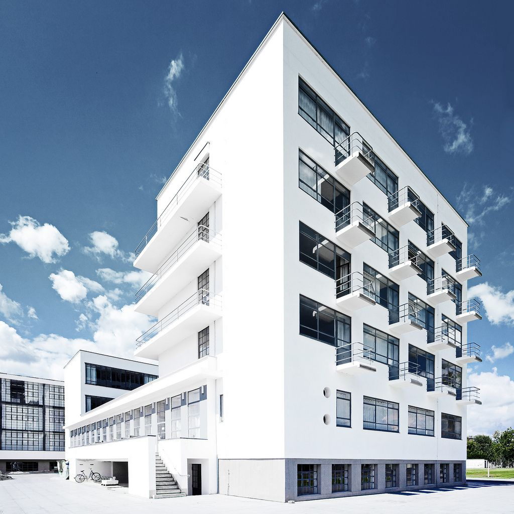 Bauhaus Student Building in Dessau, designed by Walter