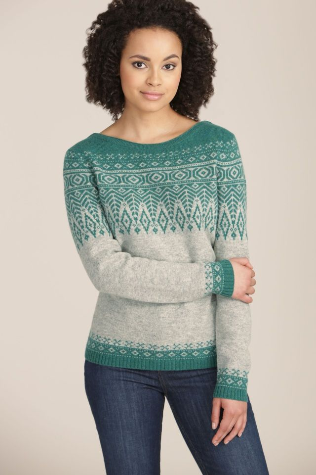 Trellis Jumper | Lambswool Fair Isle jumper | Seasalt | Для женщин ...