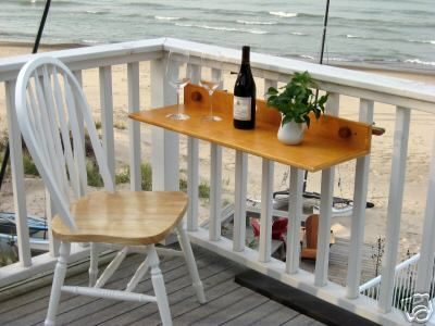 Fantastic idea for a small balcony u2013 a small table for anything