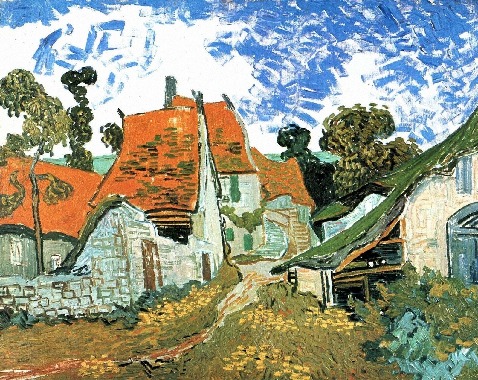 Photo of Street in Auvers – Van Gogh – 1890