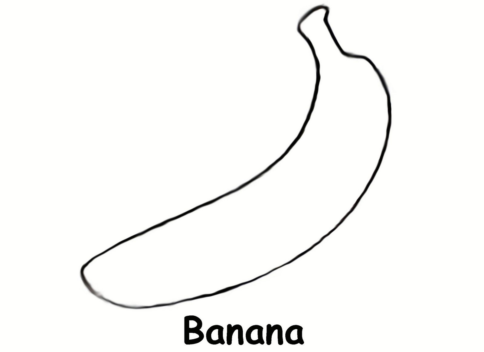Sidther Free printable preschool level coloring pages Bananas