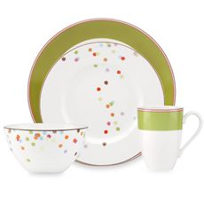 kate spade new york Market Street Green Dinnerware - way too girly for our marital home but I looove it