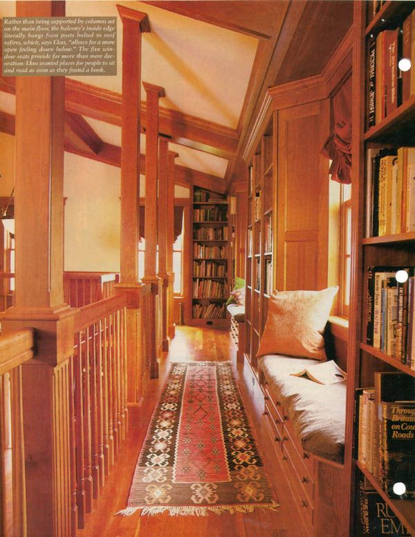The very impressive library in a house in Hatfield Massachusetts. It was added on to the 200-year-old house owned by a public relations specialist for food ... & The very impressive library in a house in Hatfield Massachusetts ...