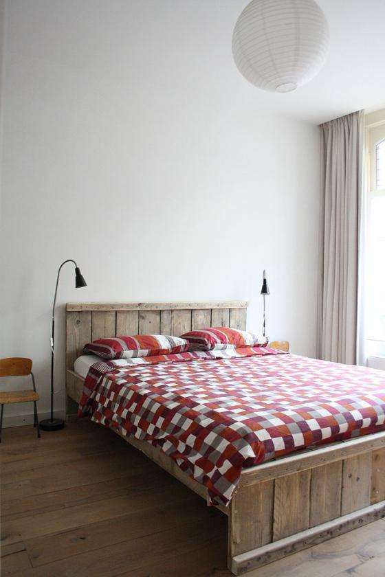 Landelijk 2 persoons steigerhout bed « Interieur Wensen - bed ...