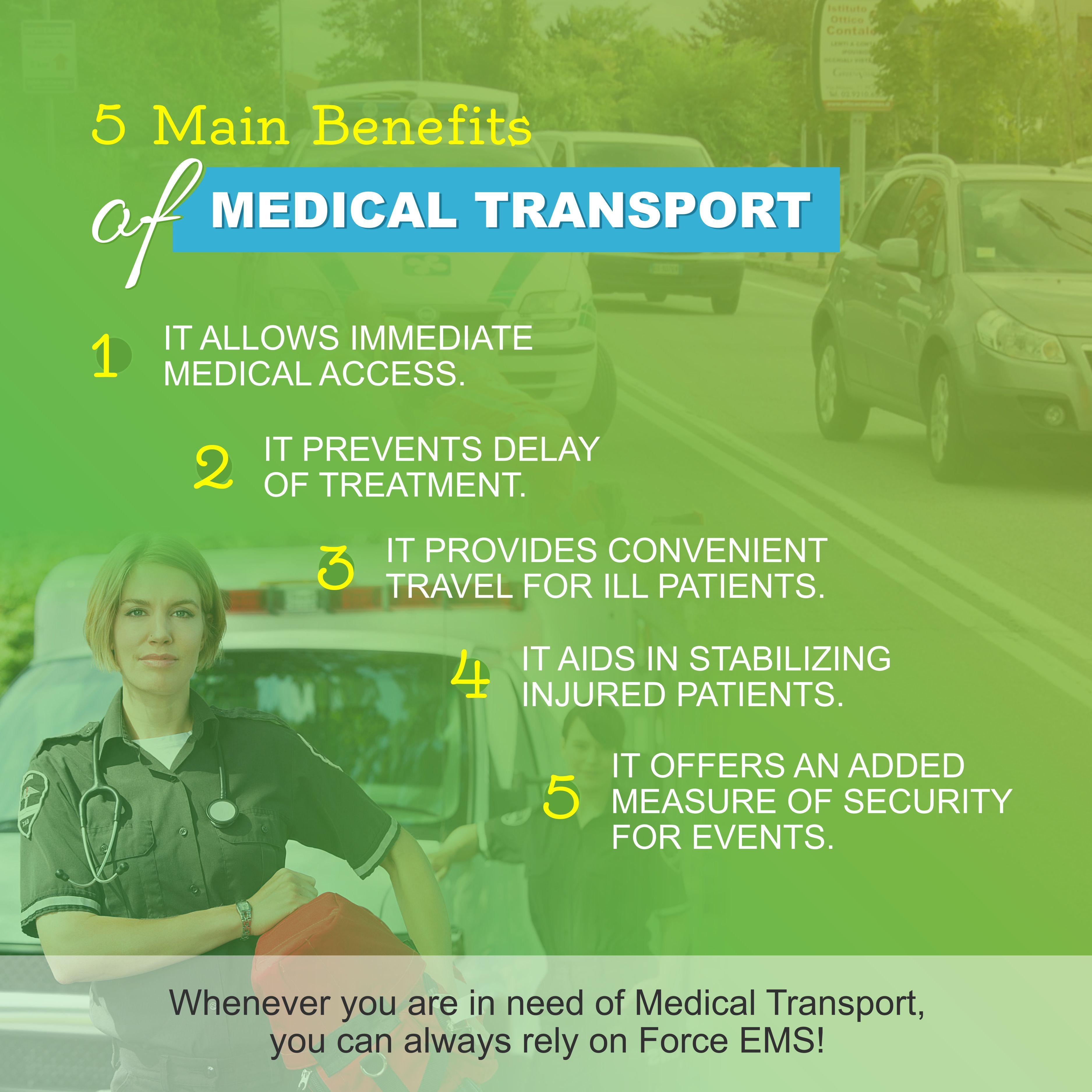 5 Main Benefits of Medical Transport Benefits