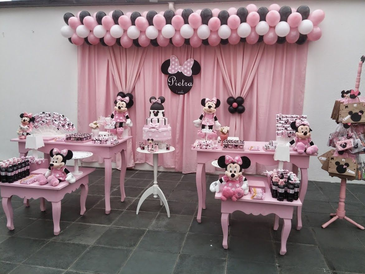 Decoracao Infantil Minnie Mouse Birthday Decorations Theme Mickey Parties