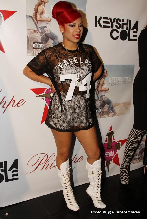 Keyshia Cole Attends Point Of No Return Album Listening