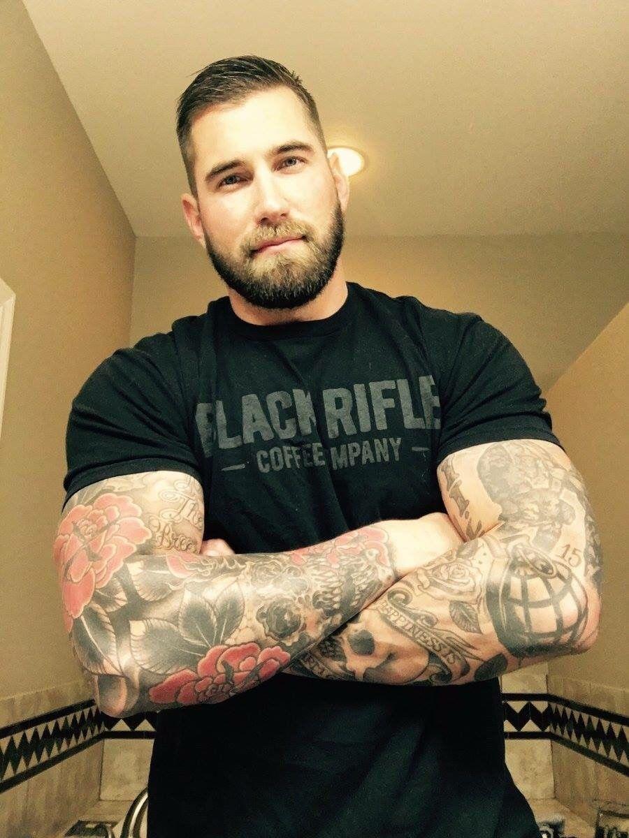 Tattooed man takes it raw