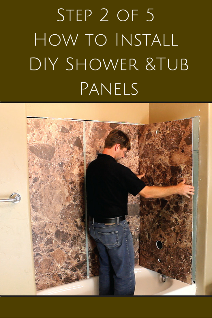 5 Steps To Install Decorative Diy Shower And Tub Wall Panels Wall Paneling Diy Diy Shower Shower Wall Panels
