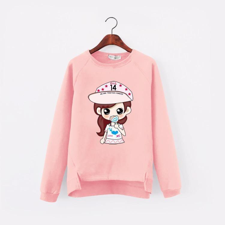 0e85802227e1 2017 Korean Kawaii Cartoon Harajuku Autumn Dog Pattern Women Sweatshirt 3D  lovely Pink Women Clothing Fleece