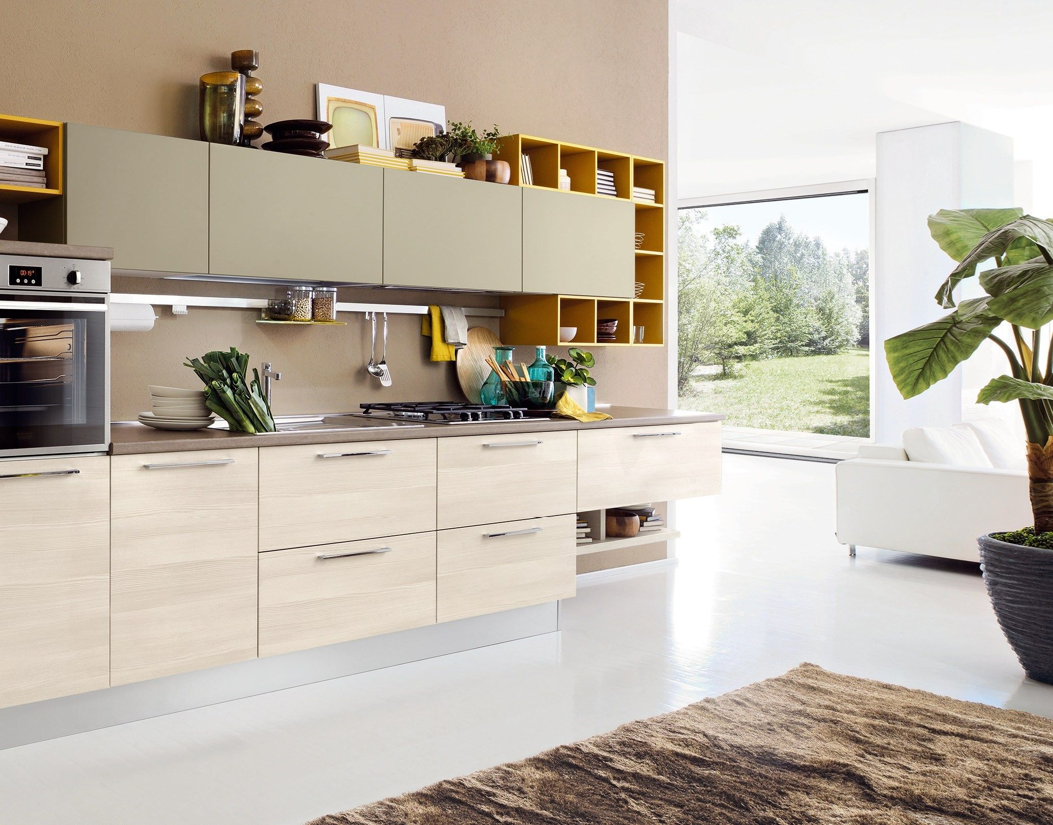Kitchen with peninsula Swing Collection by LUBE INDUSTRIES S.R.L. ...