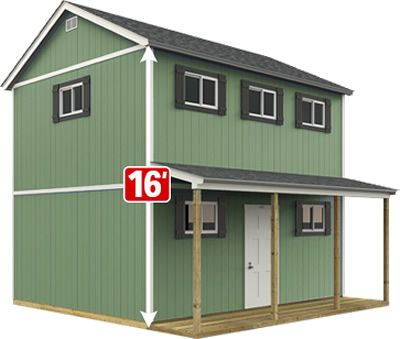 The Sundance Series TR-1600 from Tuff Shed can be painted your choice of color - Home Depot Sundance TR-1600 2-Story Farmhouse – The New Classic Manor New Day Cabin – Project Small House