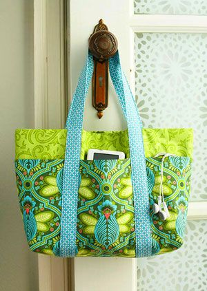 Sew A Lined Multi Pocket Tote Bag