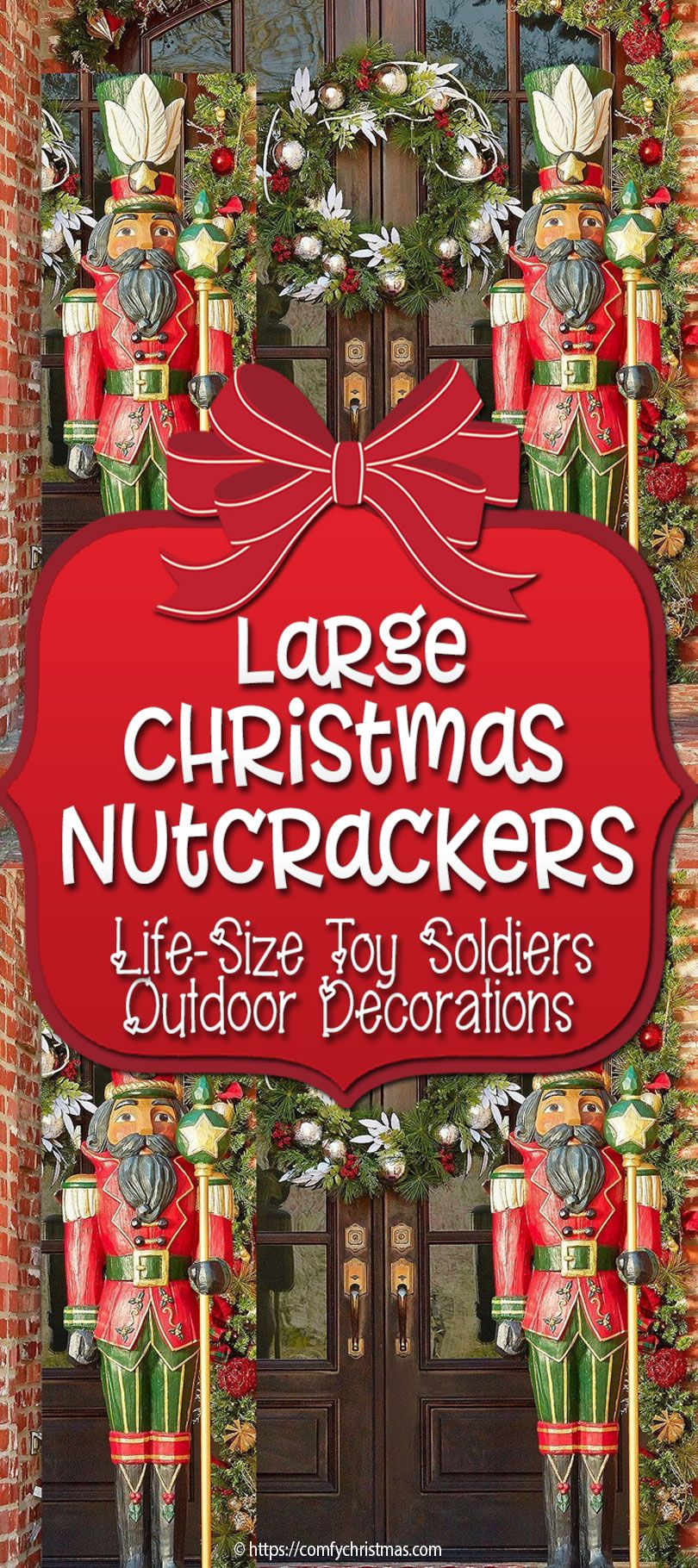 Large Outdoor Nutcracker Decoration Life Size Nutcracker Decorations Outside Christmas Decorations Nutcrackers Diy Christmas Yard Decorations