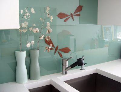 Large Glass Tile Backsplash For The Kitchen Glass Backsplash