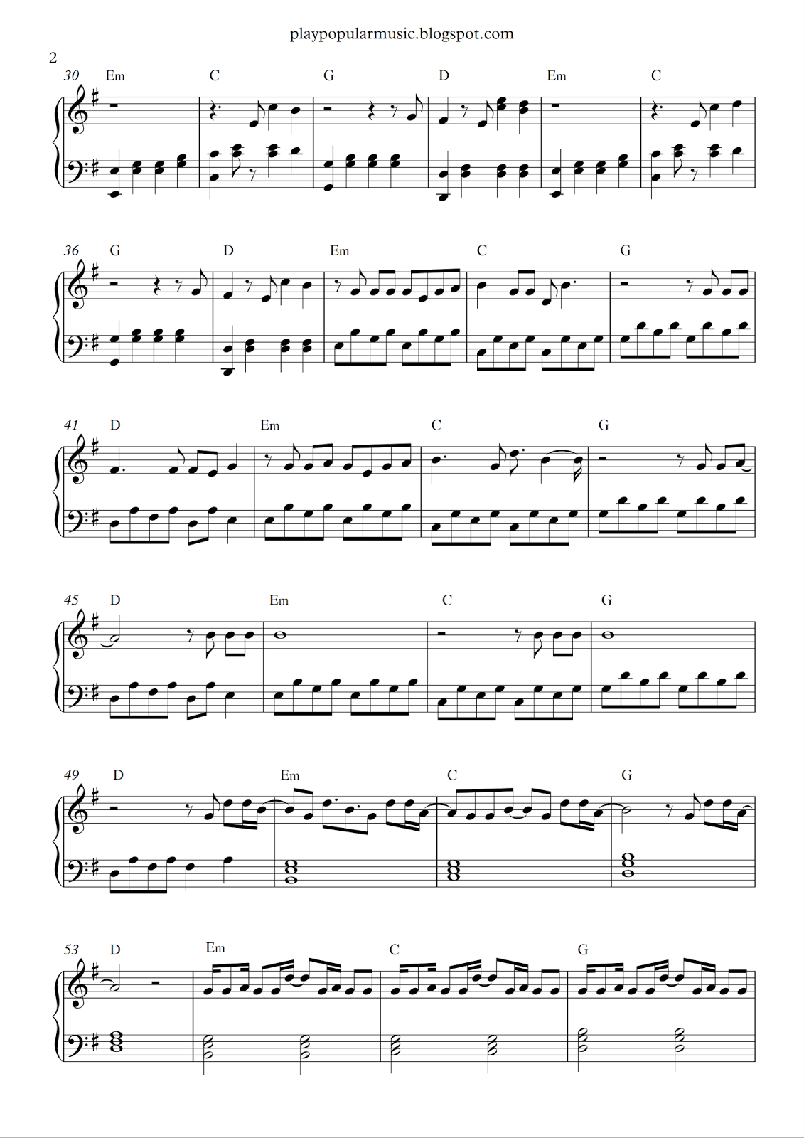 Berühmt Free piano sheet music: Alan Walker - Faded.pdf You were the  PA93