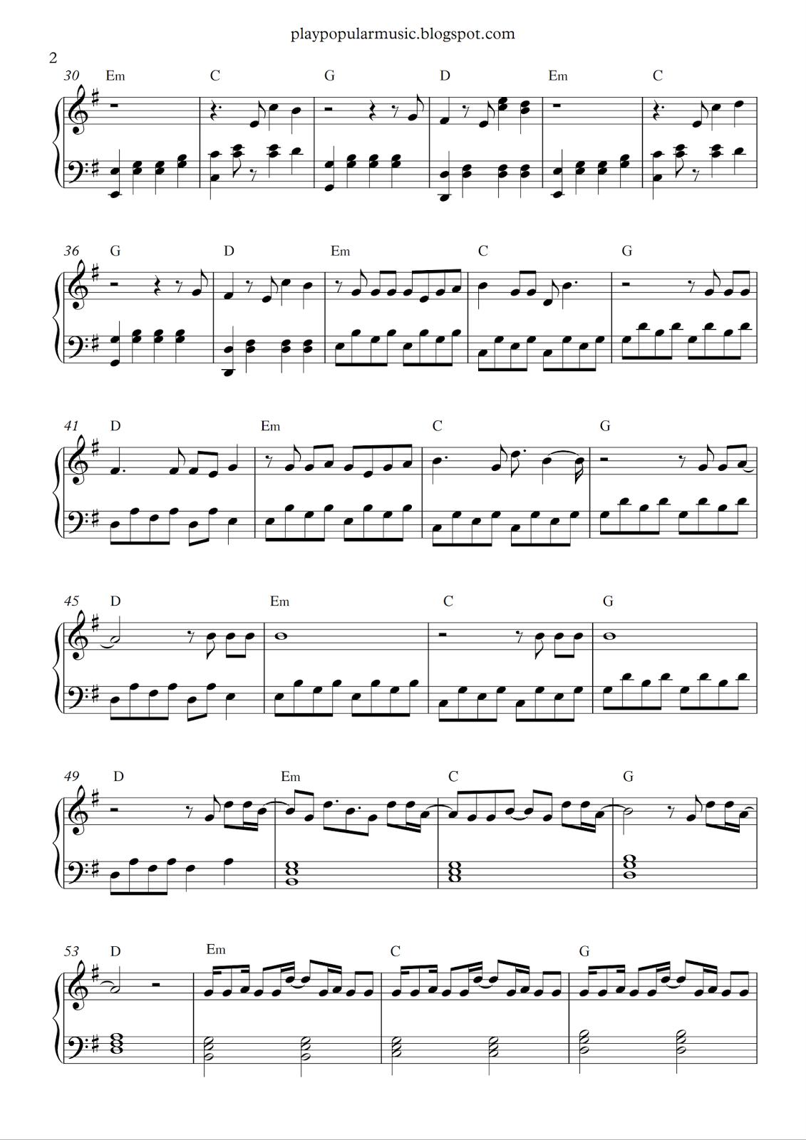 Free Piano Sheet Music Alan Walker Faded Pdf You Were The Shadow To My Li Ght Did You Feel Us Alan Walker Piano Sheet Music Free Piano Sheet Music