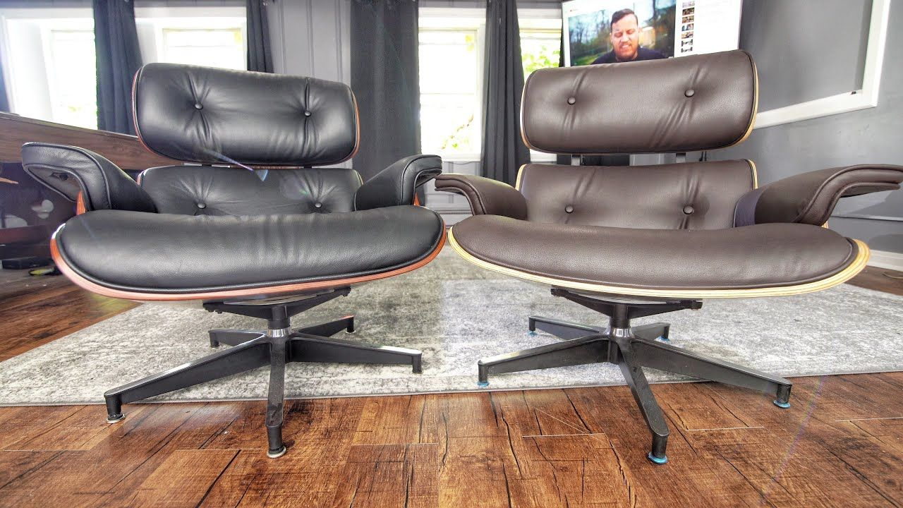 Cheap Vs Expensive Herman Miller Eames Replica Chairs Top Grain Vs Pu Leather Youtube In 2020 Eames Chair Replica Eames Lounge Chair Replica Chair