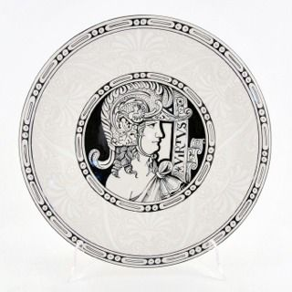 "Francesca Niccacci, Deruta italian ceramic decoration - Wall plate ""Knight Virtus"""