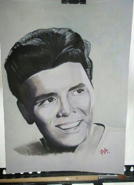 Cliff Richard Male Sketch Portrait Art