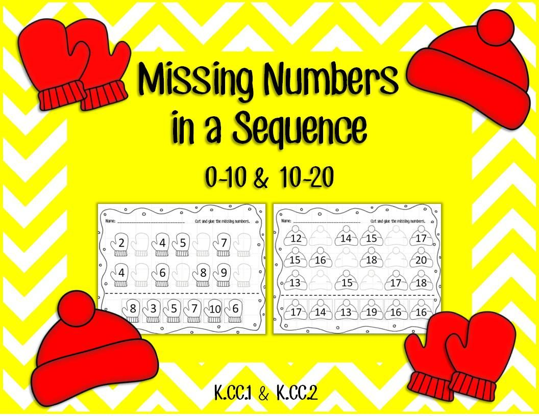 Missing Numbers In A Sequence 1 10 And 10 20 This Set
