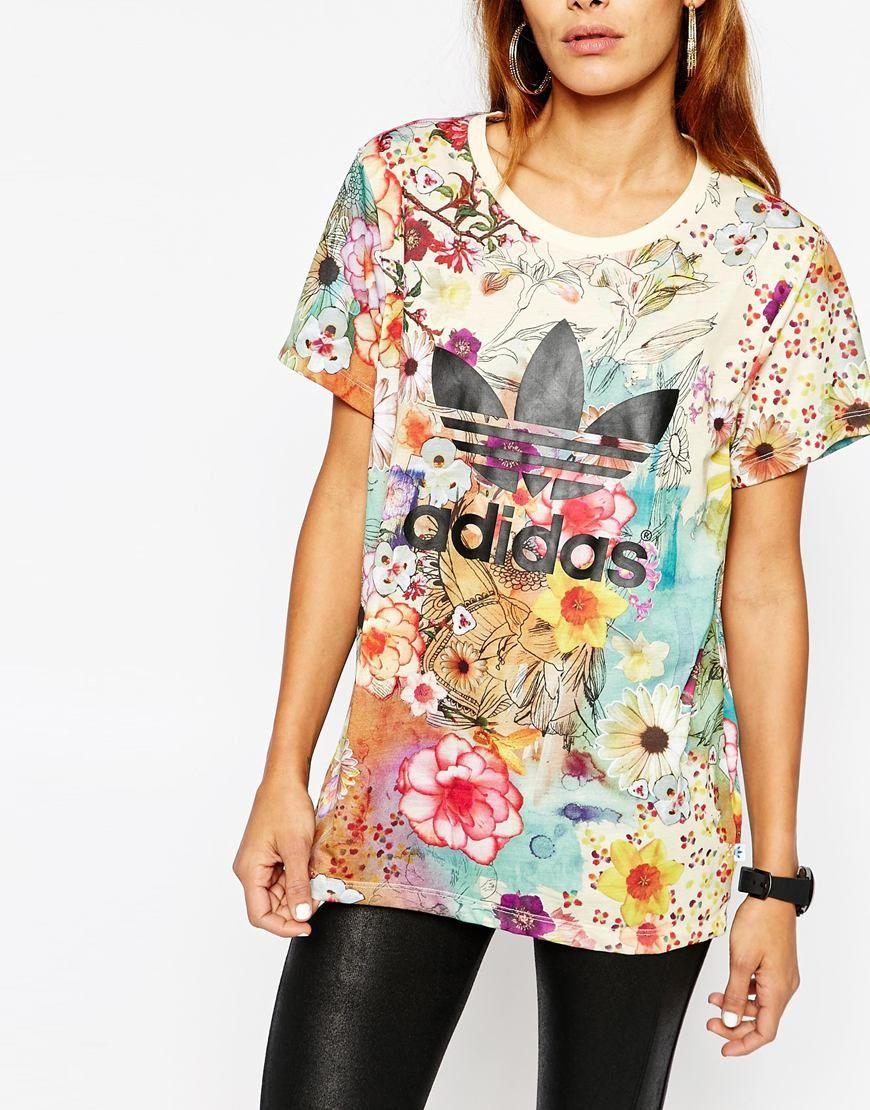 adidas shirt floral