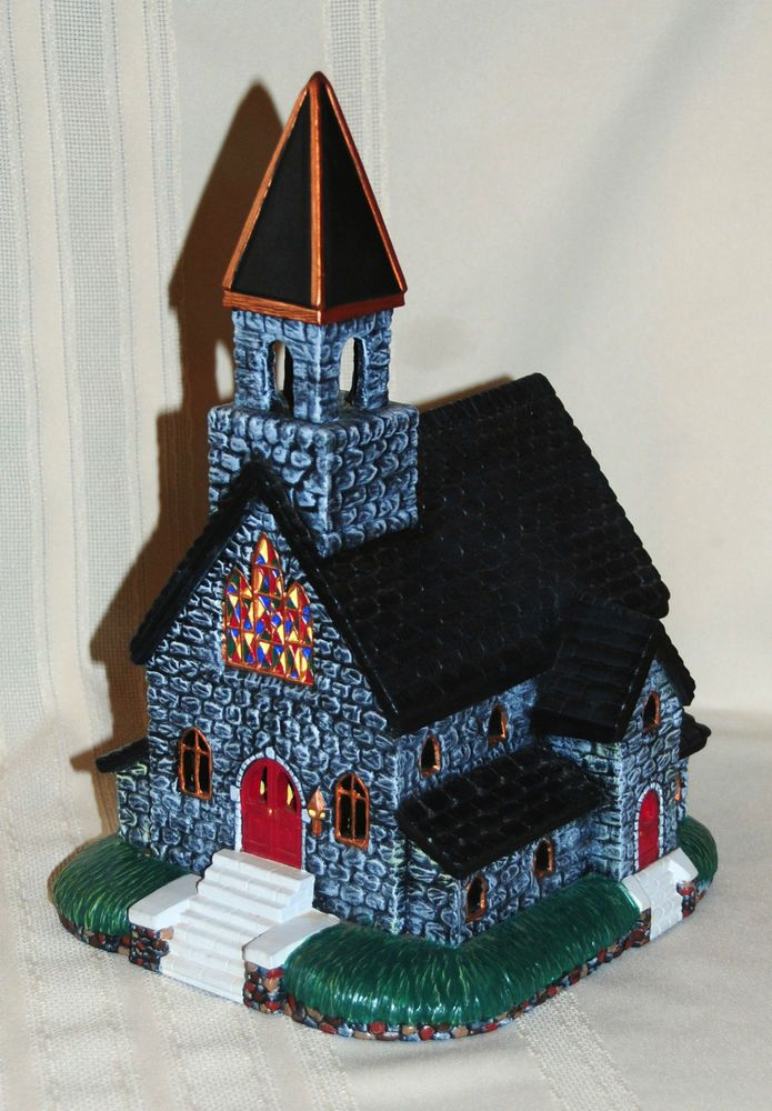 Christmas Village Large Ceramic Church Building Hand ...
