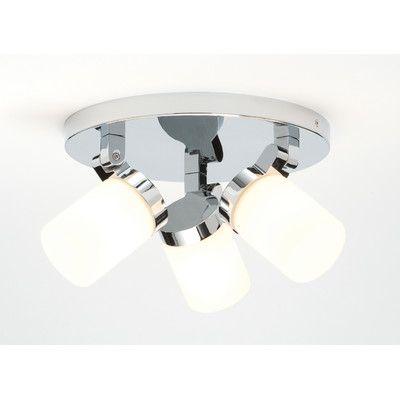 Circular 3 light ceiling spotlight