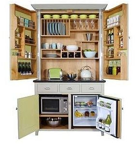 platzsparende m bel f r kleine h user tiny houses pantry single mini k chen pinterest. Black Bedroom Furniture Sets. Home Design Ideas