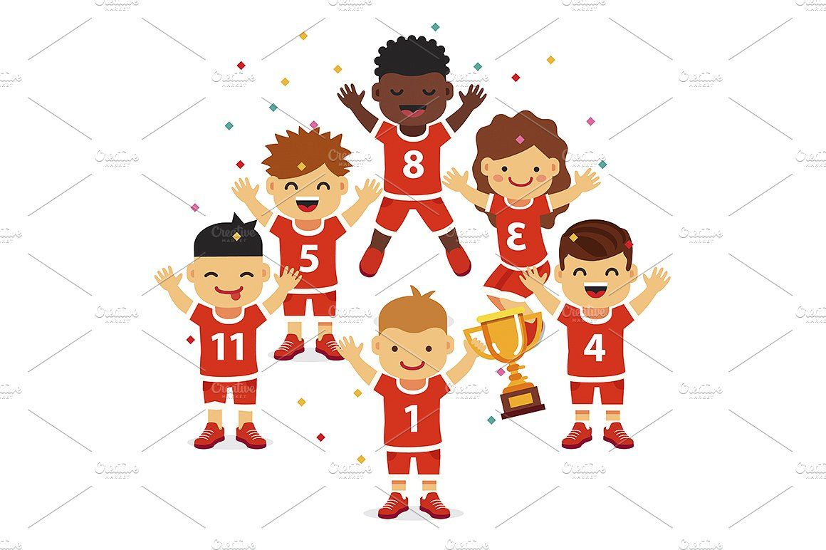 Children Sports Team Wins Kids Sports Kids Races Sports Team