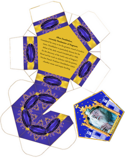 Frog box template. And Wizard Cards.  Actually, this site has all kinds of Potter printables