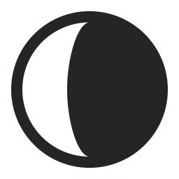 Moon Half Icon 256x256 Moon Icon Icon Professional Icon