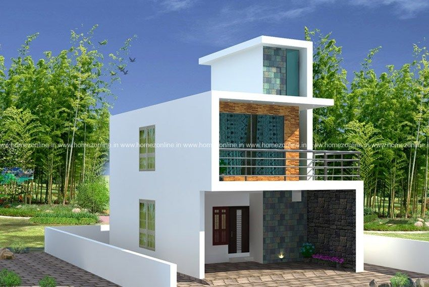 Low Cost House On Box Style Design Low Cost Housing Small House Design House